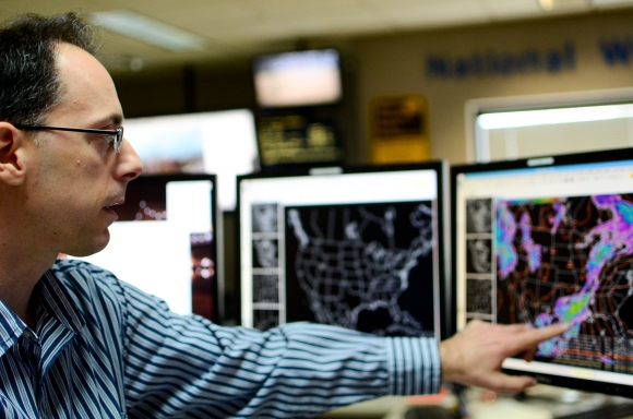 Tom Reaugh, Senior Forecaster at Louisville NOAA. Photo by Tanner Cole