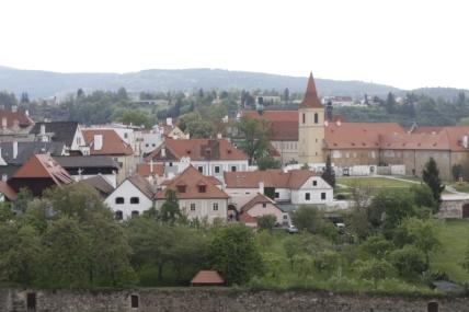 Landscape picture of Cesky Krumlov, Czech Republic.